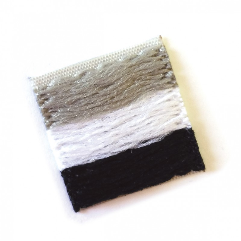 etiqueta tejida - bandera