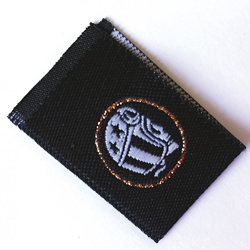 etiqueta tejida dobla puente