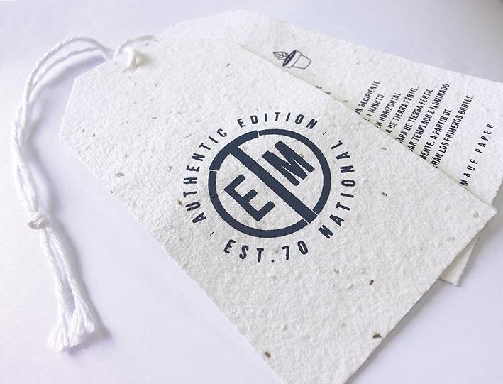 Etiquetas ecologicas con semillas etiqueta plantable etimed