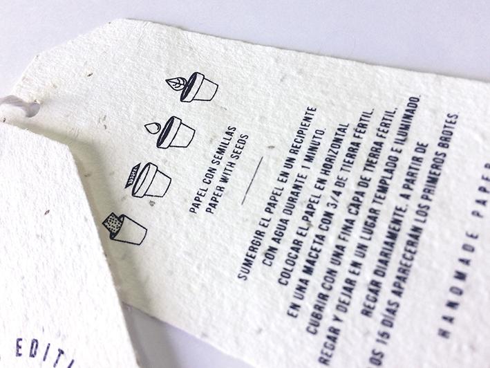 Etiquetas ecologicas con semillas etiqueta plantable
